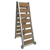 Lalizas Boarding Bridge Wood/Stainless Steel Foldable